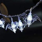 Generice LED Bat Light String Halloween linterna terror decoración bar fiesta fiesta fiesta fiesta lámpara intermitente luz