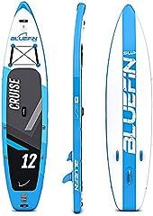 Paquete de Sup Bluefin Cruise   Tabla de Paddle Surf Hinchable   Remo de Fibra de Vidrio   Kit de Conversión a Kayak   Accesorios Completos   Varias Medidas: 10'8, 12', 15' (Azul 365cm)