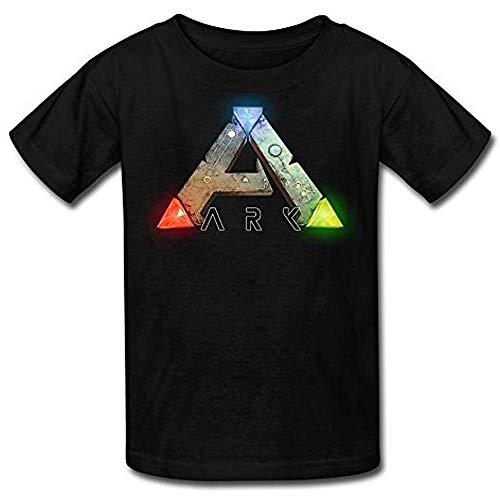 Youth Ark Logo Ark Survival Evolved Kids Boys and Girls T-Shirt Black S