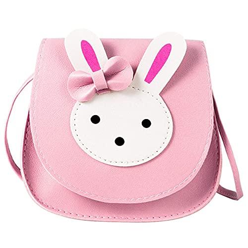 Bolso de Hombro de Conejo para Niñas, Pequeños Bolsos Lindos de Conejo Niñas, Bolso de Hombro de Conejo para Niñas, Mini Bolso de Conejo de Dibujos Animados, para Niños de Preescolar