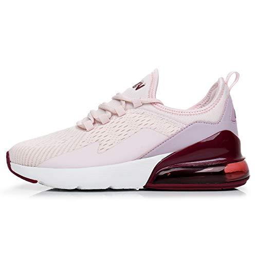 TORISKY Sneaker Herren Damen Air Laufschuhe Turnschuhe Sportschuhe Schuhe Fitness Gym Luftkissen(8999-Purple38)