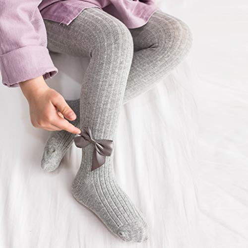 YEESEU Bebé del Invierno Medias del niño del niño del bebé de la Muchacha del Arco Medias sólidas Arco Calentamiento de Panty de los Pantalones de Las Muchachas Medias de Las Medias Ropa de Abrigo