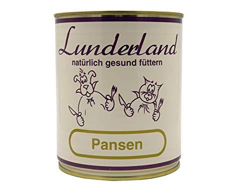 Lunderland Pansen 2X 800g Dosen (insg. 1,6kg) 100% Rinderpansen/Einzelfuttermittel für Hunde