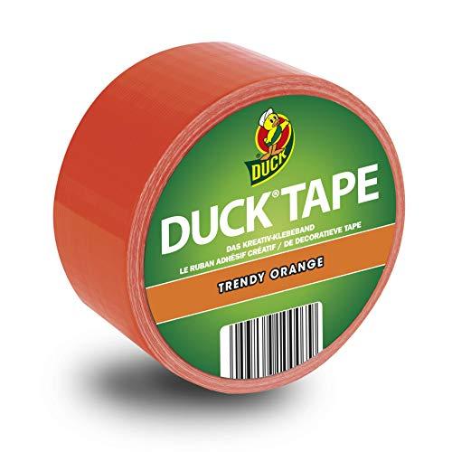 Duck Tape Colour Orange - Deko Klebeband zum Basteln und Dekorieren 48mm x 10m