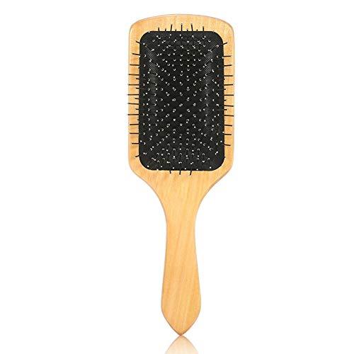 Haarborstel Kam, Hout Staal Tip Kappers Haarverzorging Gezond Hoofdhuid Massage Styling Gereedschappen