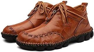 DaYee Chaussures de neige décontractées en cuir véritable pour homme