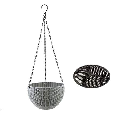 2 Pieces Hanging Basket, Hanging Basket Hanging Basket for Exterior and Interior, Ideal for Your Patio, Porch, Balcony, Set of 2 Sizes (Color : B, Size : 25cm)