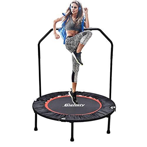 Gielmiy Faltbares Fitness Trampolin,Indoor Minitrampolin für Erwachsene,Sicheres Bungee Rebounder max. 150 kg