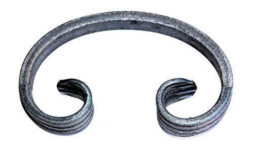 UHRIG ® C Schnörkel Bogen schmiedeeisen 12x6mm Zierelement Stahl Eisen für Zaun Geländer (100x60mm)