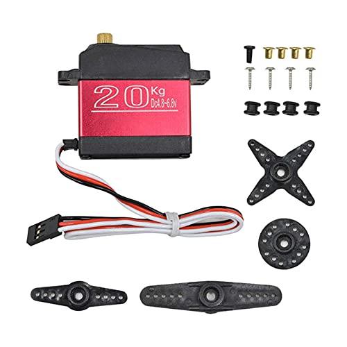 ZRYYD SR-6120MG Digital Servomotor 180 270 Grad 20 kg Hohe Stall Drehmoment Metal Getriebe Servomotor Niedriger Rauschen für Roboter Elektrische Spielzeug DIY (Color : 180 Degree Range)
