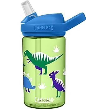 CamelBak eddy+ 14 oz Kids Water Bottle with Tritan Renew – Straw Top 14oz Hip Dinos