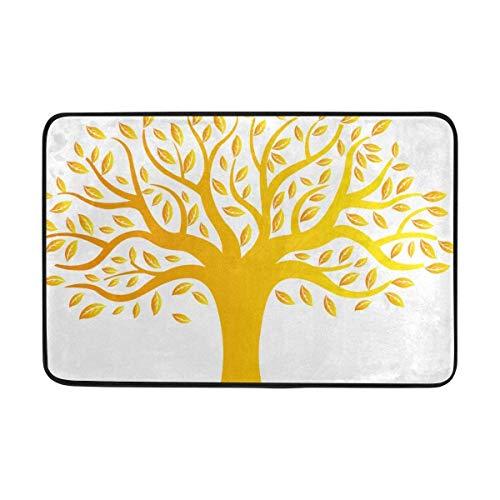 Wdskbg Felpudos Golden Tree Non Slip Door Mat