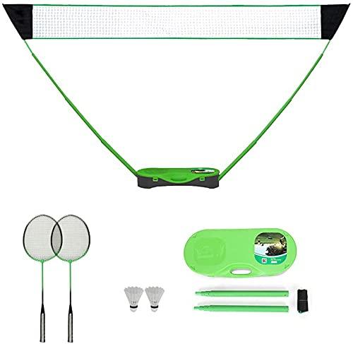 FBSPORT Tragbares Badminton-Set,Tennis,Badminton und Volleyballnetz mit freistehender Basis in Sekundenschnelle auf jedem Untergrund aufstellbar kein Werkzeug oder Einsatz erforderlich