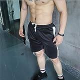 Pantalones Cortos Deportivos Men's Fitness Shorts European Brand Men's Fitness Fast Dry Shorts Men's Casual Shorts Workout Clothes Mesh Sweatpants M Black