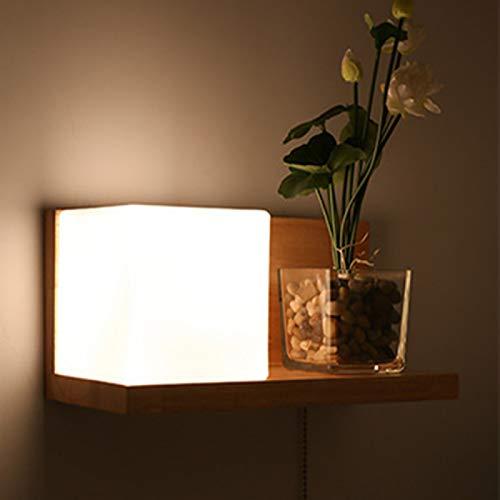Haiba LED madera sólida pared dormitorio lámparas estudio sala balcón escalera pared