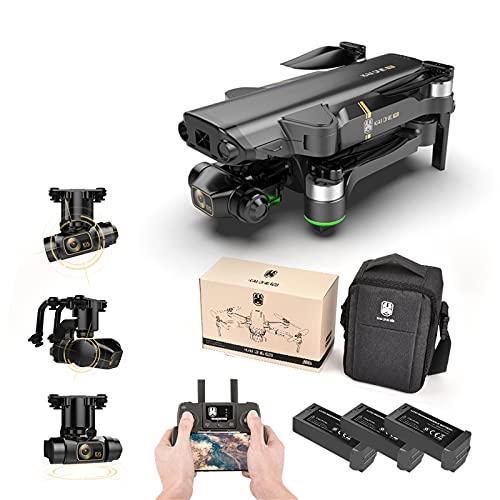 Soolike Kai One Drone con Cámara 1080P HD, WiFi 5G y Cámara Estabilizada de 2 Ejes 4K, Motor sin Escobillas,20 Minutos de Duración de la Batería, Foto Video de Gestos,Vuelo Asistido por GPS(3 Pila)