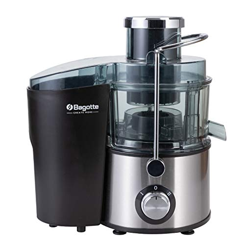 Juice Extractor, Bagotte Juicer Machine with 3'' Wide Mouth, Centrifugal Juicer for Fruits and Vegs, with Non-Slip Feet