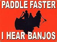 Paddle Faster ティンサイン ポスター ン サイン プレート ブリキ看板 ホーム バーために