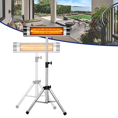 Infrarotstrahler Heizstrahler Terrassenheizstrahler Wärmestrahler Schwenkbar/Mobil/Wandbefestigung höhenverstellbarem Teleskopstativ,für den Außenbereich Garten Garage