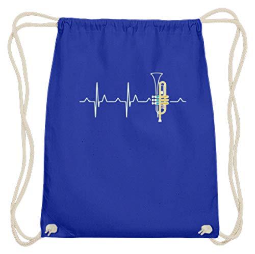 SPIRITSHIRTSHOP hartslag, trompet, hart, muziek, instrument, muziekinstrument, trompetspeler, spelen - Katoenen gymsac