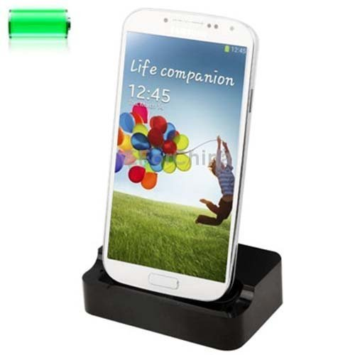Totalcase Dockingstation Schwarz für Samsung Galaxy S2 S3 S4 S6 S7 Edge Mini Ladestation Micro USB