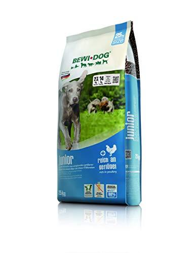 BEWI DOG Junior [25 kg] Hundefutter | Trockenfutter für junge Hunde ab 4. Monat | ohne Weizen & Soja | 80% tierisches Eiweiß