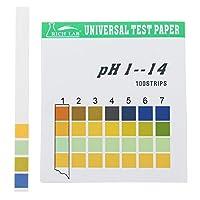 ユニバーサルPH試験フルレンジ1-14インジケータ紙テスタ100のストリップ箱入りW /カラーチャートストリップ