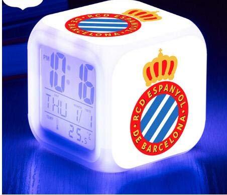 TYWFIOAV Fútbol/Luminous New Deportiva Despertador Números de Destello de 7 Colores