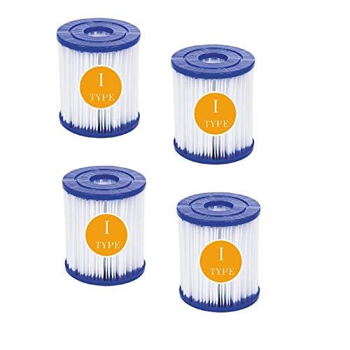 BBUY Cartucho de filtro tipo I, para bombas de piscina Bestway, filtro de cartucho, tamaño I, filtro de limpieza de piscinas (4 unidades)
