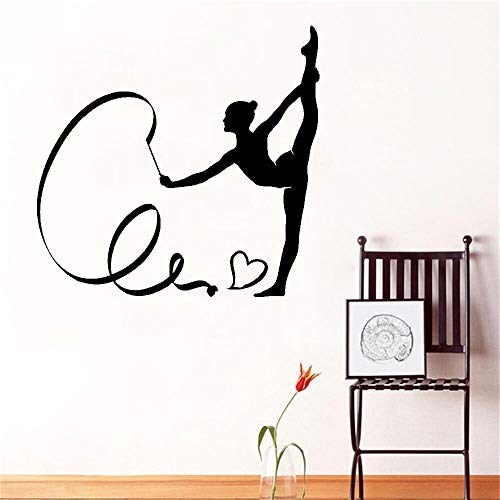 Wall Sticker Decor,Interesting Gymnast Silhouette Vinyl Car Art Sticker Decor Mural DIY Knife and Fork Removable Wall Sticker Family Home Decal