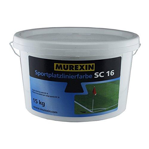 Murexin SC 16 pittura bianca traccialinee per campi sportivi, 15 l
