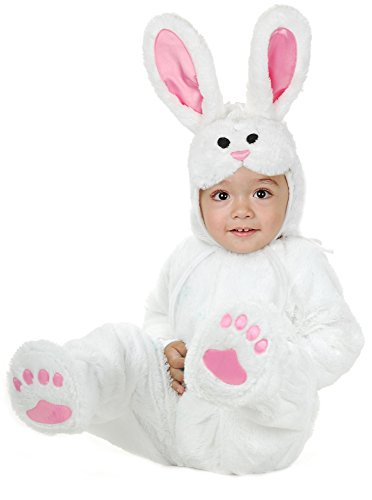 Charades Little Bunny Costume Baby Costume, -White, Infant