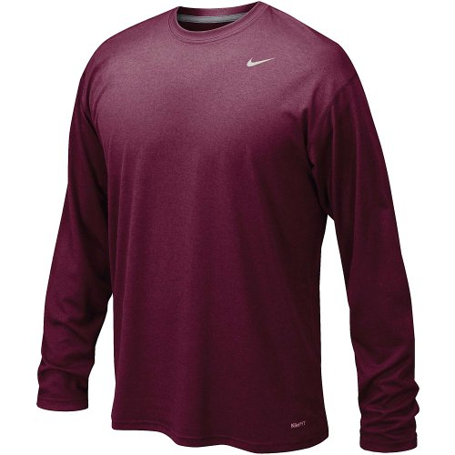 Nike Legend Long Sleeve Performance Shirt Size Maroon XXL