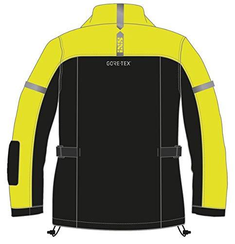 IXS Regenjacke 3 Layer-Gore-TEX, Farbe:schwarz-gelb fluo, Größe:2XL