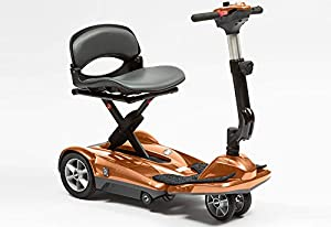 drivedevilbiss Dual Wheel Automatic Folding Lightweight Mobility Scooter - (Red)
