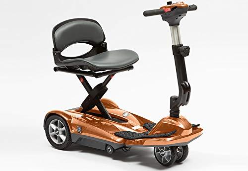 drivedevilbiss Scooter de movilidad ligera y plegable automático, de doble rueda, color rojo