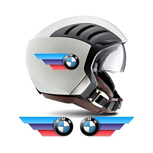 Adesivi tricolore per casco compatibili BMW Motorsport