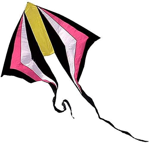 cometas para niños cometa infantil Colorido cometa arcoíris de cola larga con línea de cometas y carrete de cometas, fácil de montar, fácil de volar Cometa de diamante para principiantes para Bea