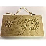 LoudNProud Inc Welcome Y'all Door Sign, Door Accent, Entry Door Hanger
