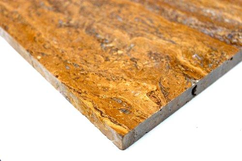 Travertine tegel Yellow Vein Cut tegels gepolijst natuursteen geel - 1 pakket