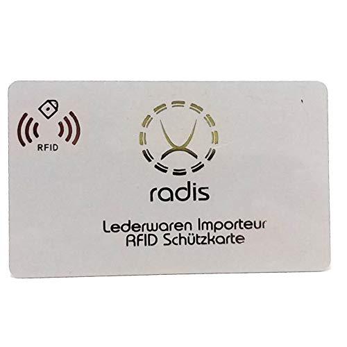 RFID Blocker Karte NFC Schutzkarte Blocking Card für Kreditkarten, Geldbörse, Personalausweis, Kreditkartenetui, EC (Weiß, 1 STK)