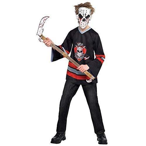 Kinder Blutig Gesicht Offe Jason Hockey Kostüm Kostüm Größe 14-16 Jahre