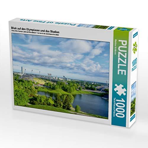 CALVENDO Puzzle Blick Auf den Olympiasee und das Stadion 1000 Teile Lege-Grsse 64 x 48 cm Foto-Puzzle Bild Von Schikore Martina