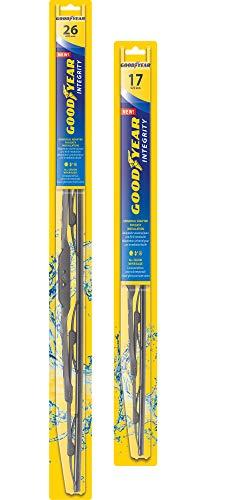 Goodyear Integrity Windshield Wiper Blades, 26 Inch & 17 Inch