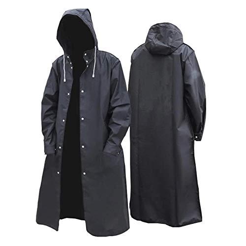 Teeyyui Chubasquero impermeable portátil para adultos, ponchos de lluvia de EVA con mangas de capucha, adecuado para acampar al aire libre, senderismo y montar