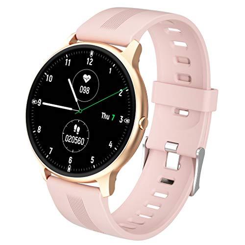 Reloj Inteligente Smartwatch para Hombres,Rastreadores De Actividad Ultrafinos De Pulsera Deportiva Multifunción Al Aire Libre, Monitor De Frecuencia Cardíaca para Ejercicios,Podómetro,B