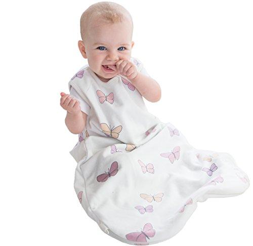 Baby Sleeping Bag, 4 Season Basic Merino Wool Wearable Blanket, 18-36 Months, Butterfly