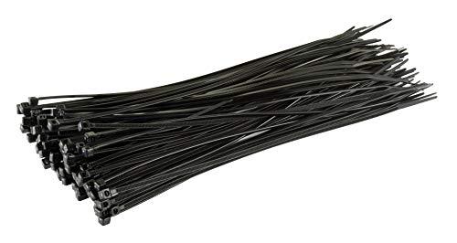 Gocableties 100-pack svarta kabelband, 200 mm x 2,5 mm, 8 tum premium slipsar, nylonband