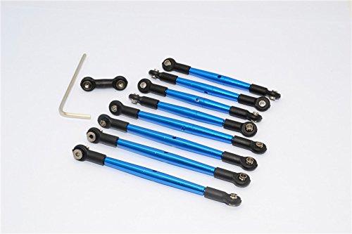 GPM for Traxxas 1/16 Mini E-Revo, Mini Summit Upgrade Parts Aluminum Completed Tie Rod - 9 Pcs Blue