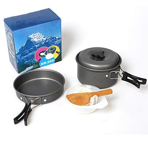APXZC draagbare kookgerei voor buiten, met opbergtas, veilig, milieuvriendelijk, anti-aanbak, gemakkelijk te reinigen, voor reizen, camping, picknick koken